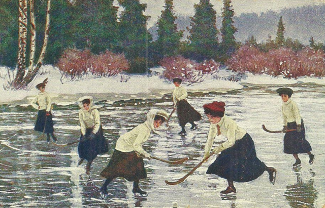 Norway Women's Ice Hockey History 1909 Postcard by Eneberettiget J.F.E.