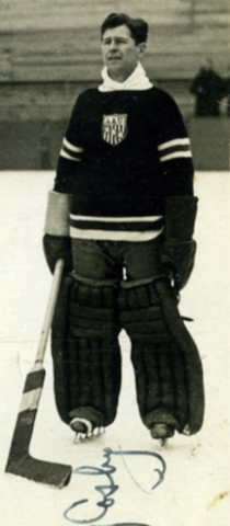 Gerry Cosby 1938 United States Men's National Ice Hockey Team Goaltender