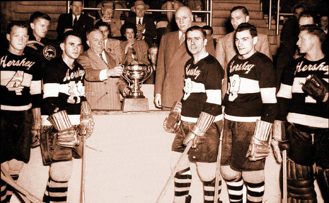Hershey Bears John B. Sollenberger with 1947 Calder Cup Championship