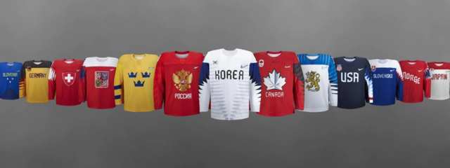 Olympic Hockey Jerseys for 2018 Pyeongchang Games