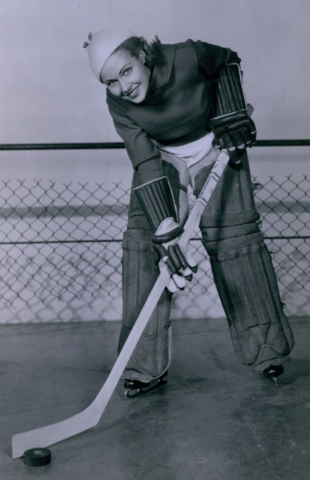 Gloria Shea in Ice Hockey Gear 1930s