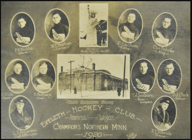 Eveleth Hockey Club 1920 Champions of Northern Minnesota