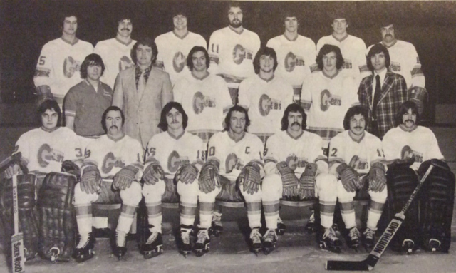 Saginaw Gears Team Photo 1975 International Hockey League