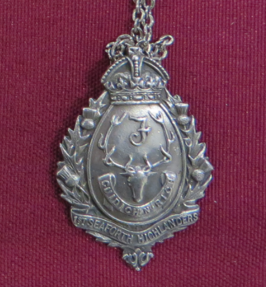 1st Seaforth Highlanders Medallion for Hockey League 1908 Pte W McPherson