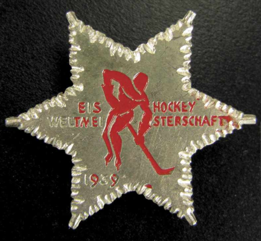 Eishockey Weltmeisterschaft 1939 Ice Hockey World Championships Pin
