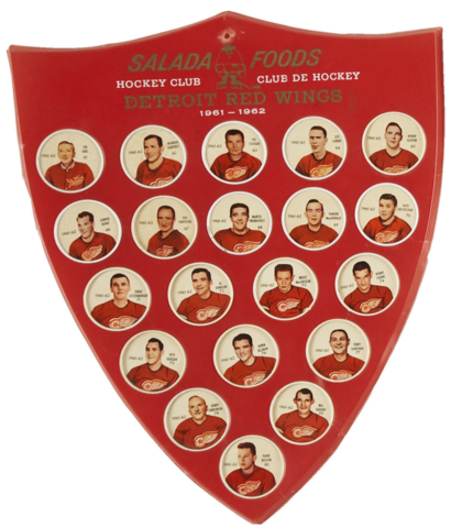 Shirriff Hockey Coins / Salada Foods 1961 Detroit Red Wings