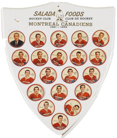 Shirriff Hockey Coins / Salada Foods 1961 Montreal Canadiens