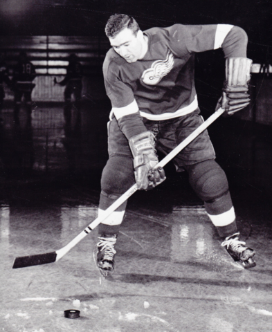 Jerry Toppazzini 1955 Detroit Red Wings