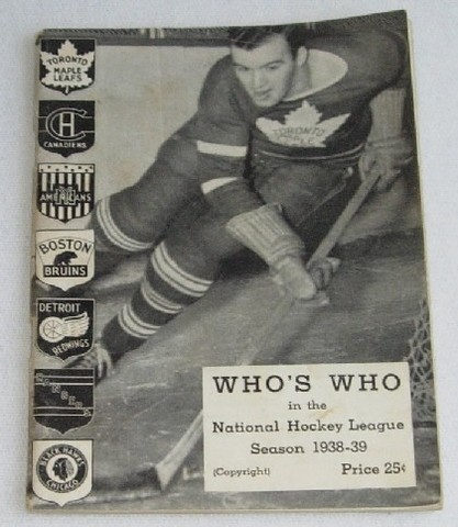 "Ice Hockey Guide 1938  ""Who's Who"" in the NHL"