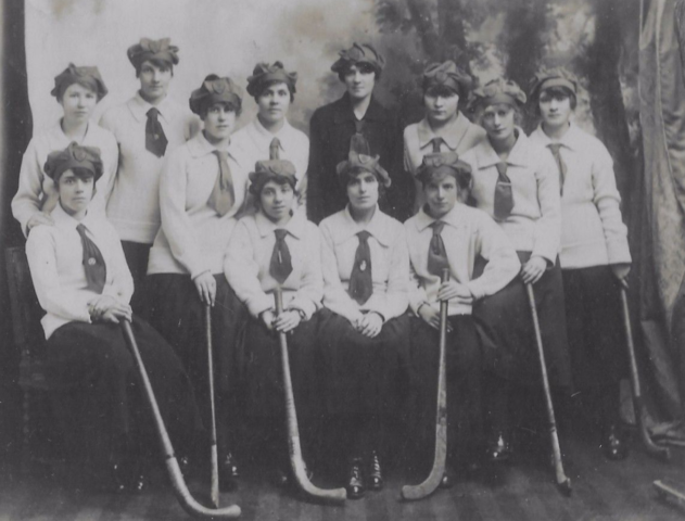Antique Field Hockey - Girls School Team circa 1915