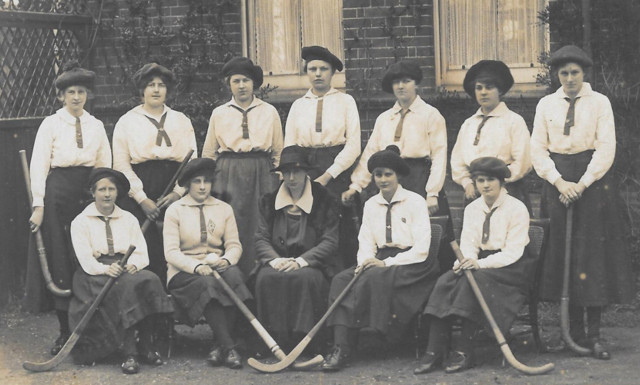 Antique Field Hockey - Girls School Team circa 1914