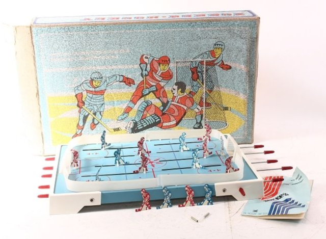 Vintage Table Top Hockey Game made in CCCP for Raznoexport /хоккей 1979