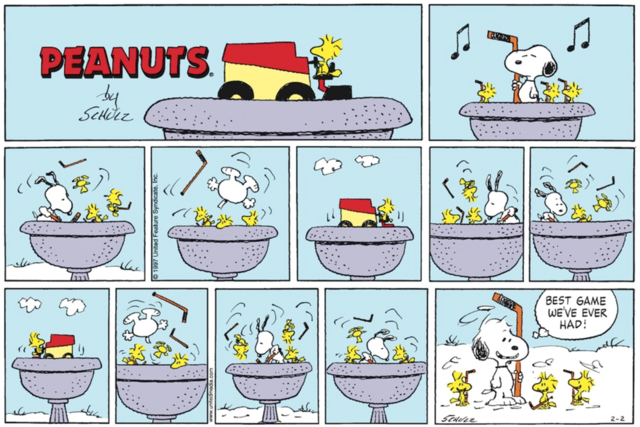 "Snoopy & Woodstock Hockey in the ""Best Game We've Ever Had"""