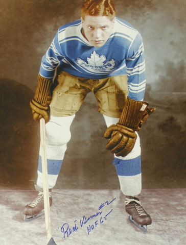 Red Horner 1931 Toronto Maple Leafs - Colourized