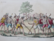 Mapuche Indians of Chile Playing Ciueca 1828 Handcoloured Copperplate Engraving