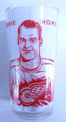 Gordie Howe 1960 York Peanut Butter Hockey Glass