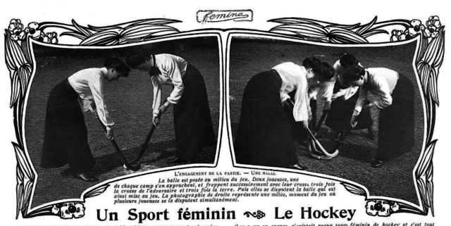 Antique Field Hockey 1904 French Le Hockey - Bully Off