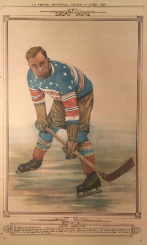 Lionel Conacher 1928 La Presse Hockey Photo