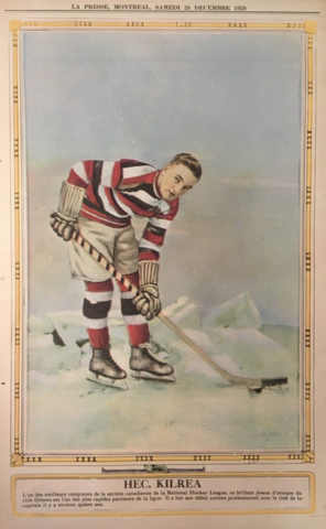 Hec Kilrea 1929 La Presse Hockey Photo