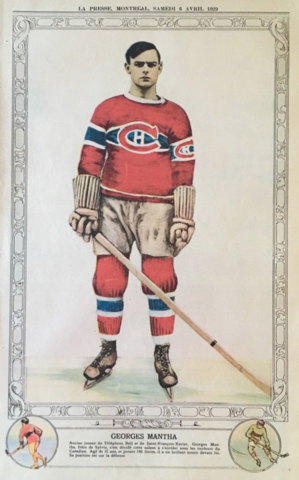 Georges Mantha 1929 La Presse Hockey Photo
