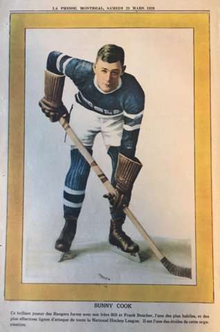 Bunny Cook 1929 La Presse Hockey Photo