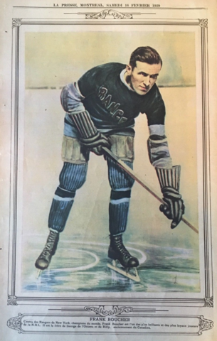Frank Boucher 1929 La Presse Hockey Photo