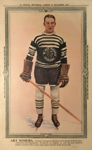 Art Somers 1930 La Presse Hockey Photo