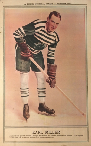 Earl Miller 1930 La Presse Hockey Photo