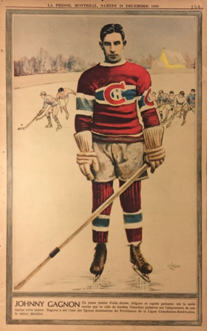 Johnny Gagnon 1930 La Presse Hockey Photo