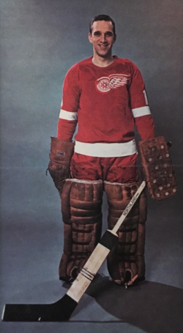 Roger Crozier 1966 Detroit Red Wings
