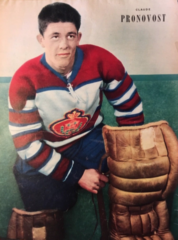 Claude Pronovost 1953 Montreal Junior Royals