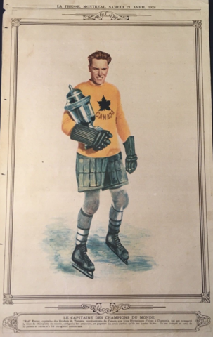 Red Porter 1928 Team Canada Captain / Toronto Varcity Grads / Varcity Blues