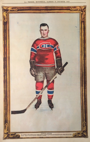 Charlie Langlois 1928 La Presse Hockey Photo