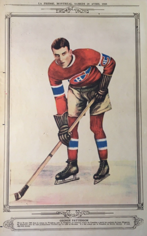 George Patterson 1928 La Presse Hockey Photo