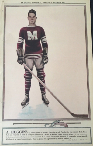 Al Huggins 1931 La Presse Hockey Photo