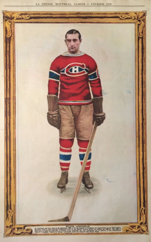 Wildor Larochelle 1928 La Presse Hockey Photo