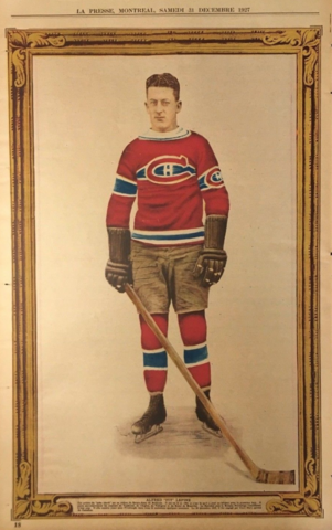 "Alfred ""Pit"" Lépine 1927 La Presse Hockey Photo"
