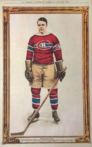 Joseph Albert Leduc 1928 La Presse Hockey Photo