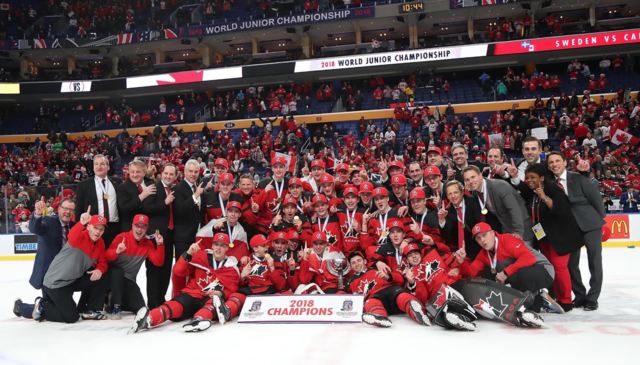 Team Canada 2018 World Junior Ice Hockey Champions