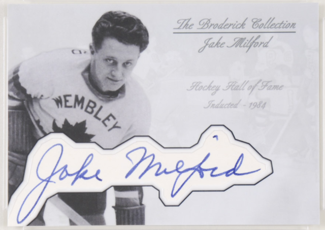 Jake Milford Hockey Card - The Broderick Collection