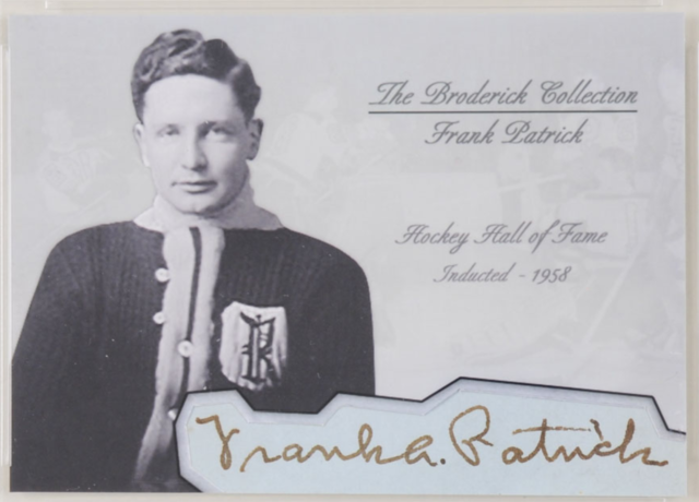 Frank Patrick Hockey Card - The Broderick Collection