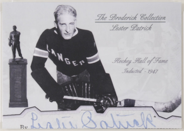 Lester Patrick Hockey Card - The Broderick Collection