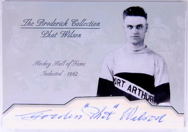 Phat Wilson Hockey Card - The Broderick Collection