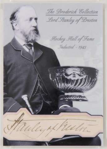 Lord Stanley of Preston Hockey Card - The Broderick Collection
