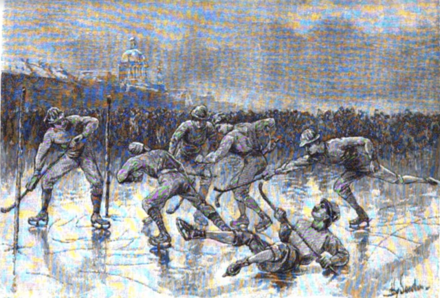 1883 Montreal Winter Carnival Game Drawing