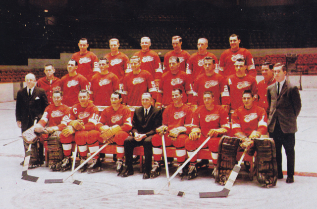 Detroit Red Wings Team Photo 1962