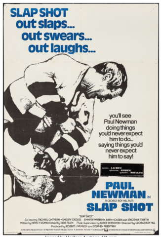 Paul Newman in Slap Shot Movie Poster 1977