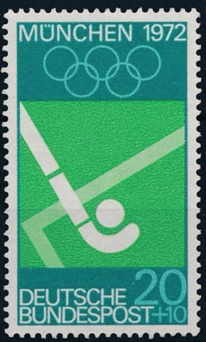 1972 Summer Olympics Field Hockey Stamp from Germany