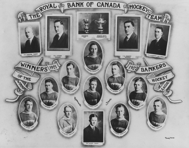 Royal Bank of Canada Hockey Team 1922 Winnipeg Bankers Hockey League Champions