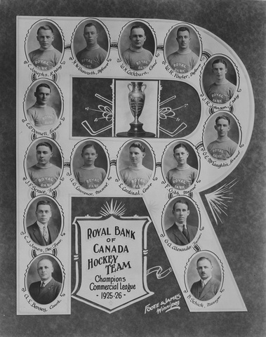 Royal Bank of Canada Hockey Team 1926 Winnipeg Commercial League Champions
